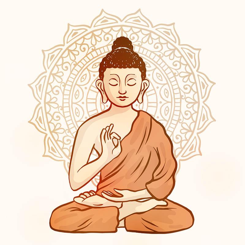 insegnamento-del-buddha-illustrazione